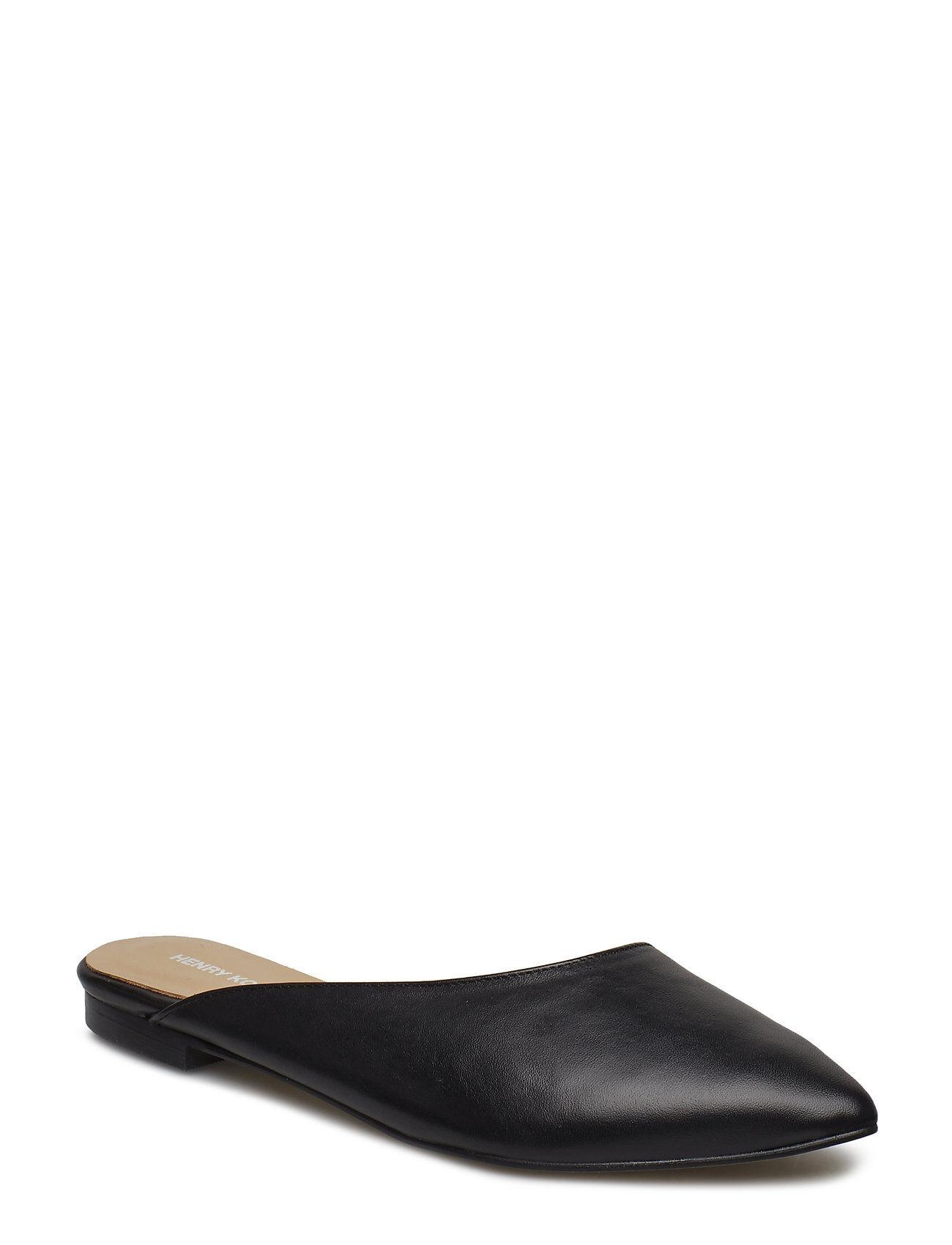 Henry Kole Gail Leather Black Matalapohjaiset Sandaalit Musta Henry Kole