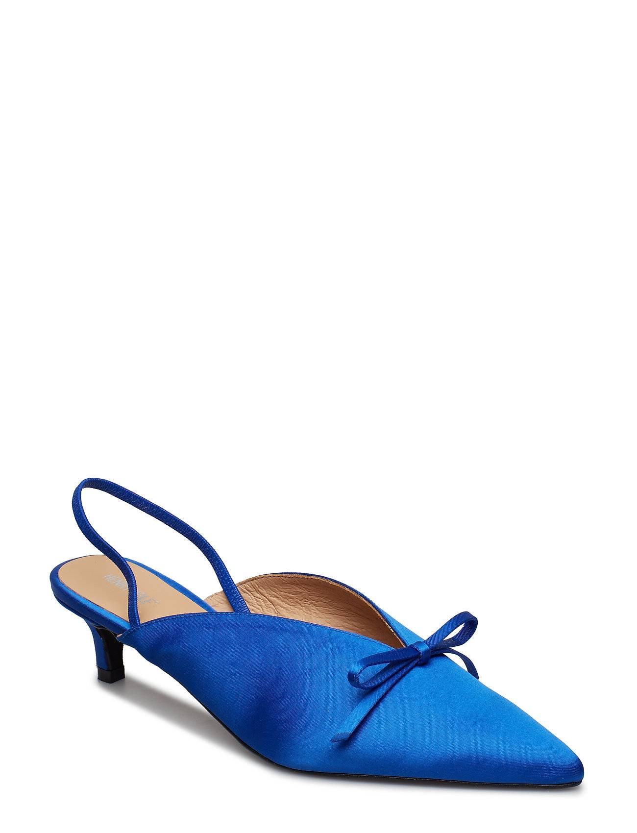 Henry Kole Amelie Satin Blue Shoes Heels Pumps Sling Backs Sininen Henry Kole