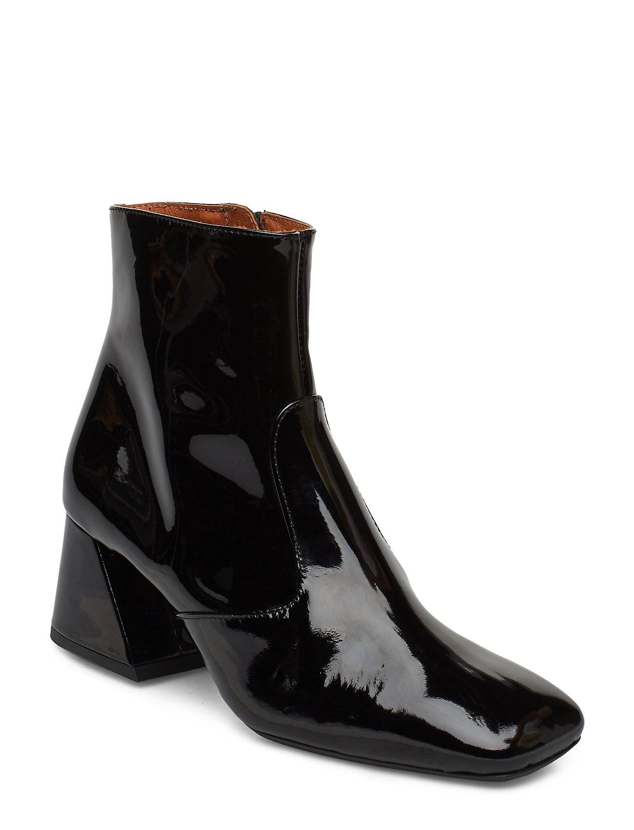 Henry Kole Nora Patent Black Shoes Boots Ankle Boots Ankle Boots With Heel Musta Henry Kole