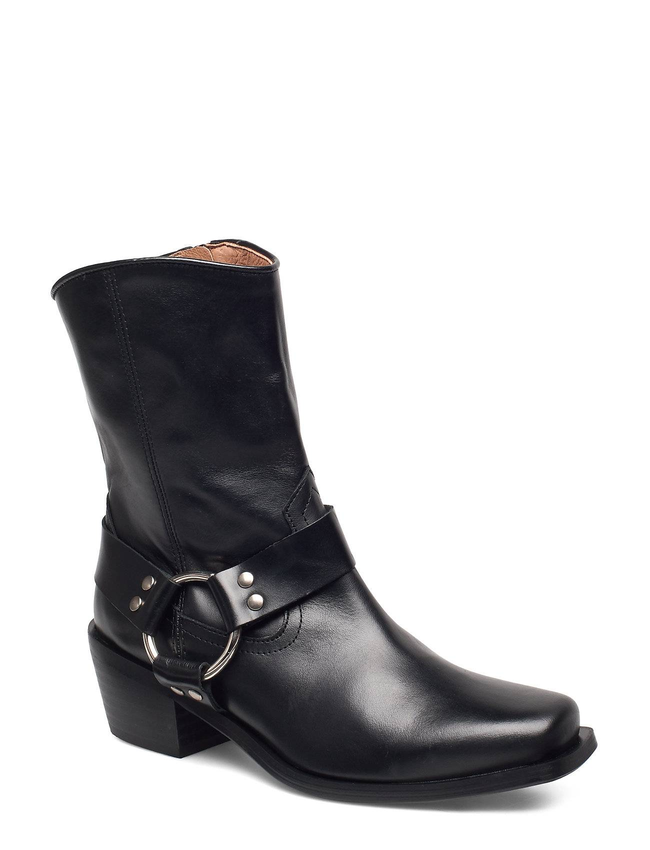 Henry Kole Hazel Leather Black Shoes Boots Ankle Boots Ankle Boots With Heel Musta Henry Kole