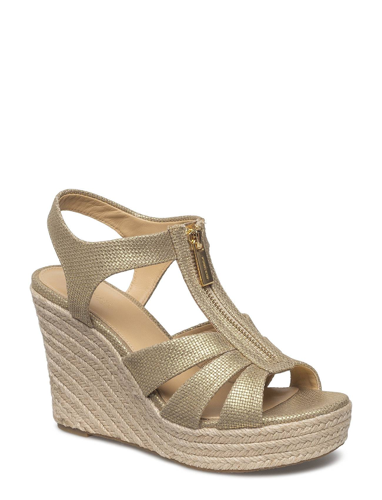 Michael Kors Shoes Berkley Wedge Korolliset Sandaalit Espadrillot Kulta Michael Kors Shoes