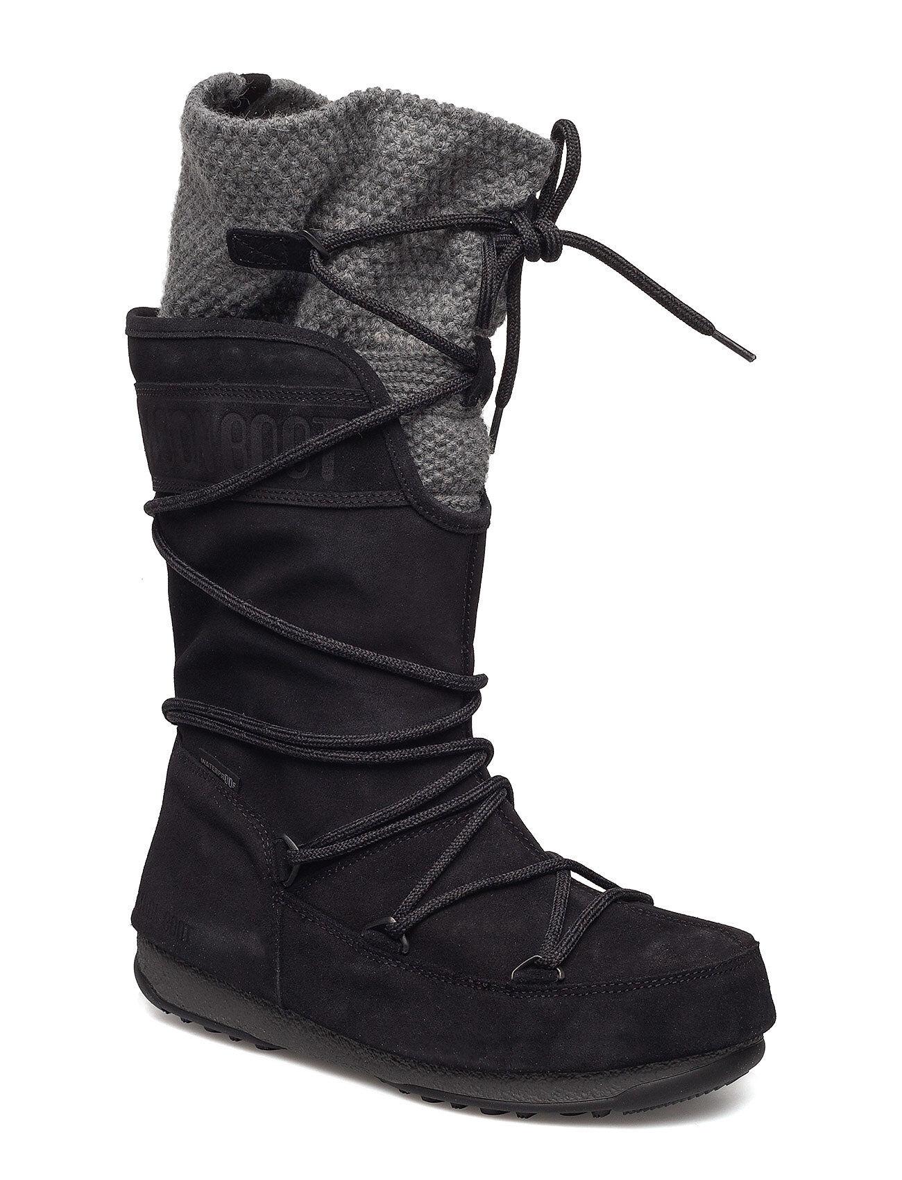 Moon Boot W.E. Anversa Wool Wp Bootsit Nauhalliset Saapikkaat Musta