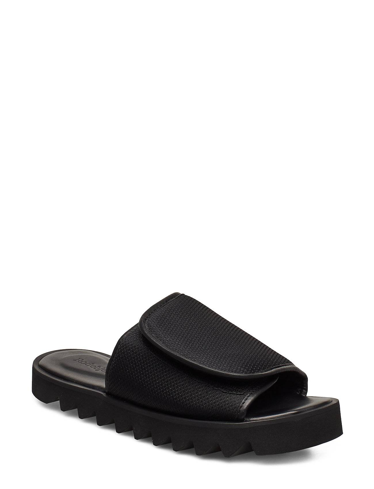 Rodebjer Micki Shoes Summer Shoes Flat Sandals Musta RODEBJER