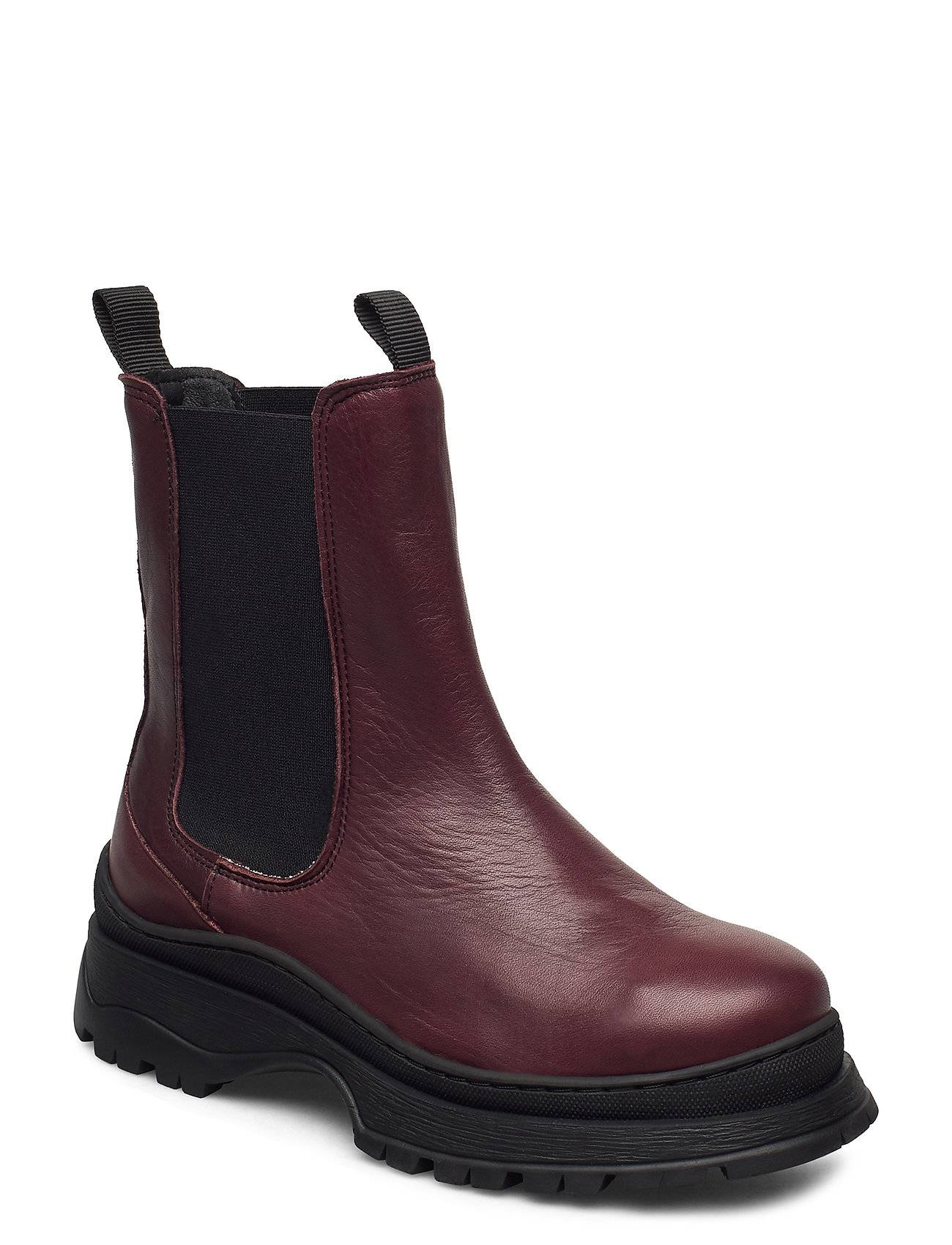 Selected Femme Slflucy Leather Chelsea Boot B Chelsea-saappaat Bootsit Liila Selected Femme