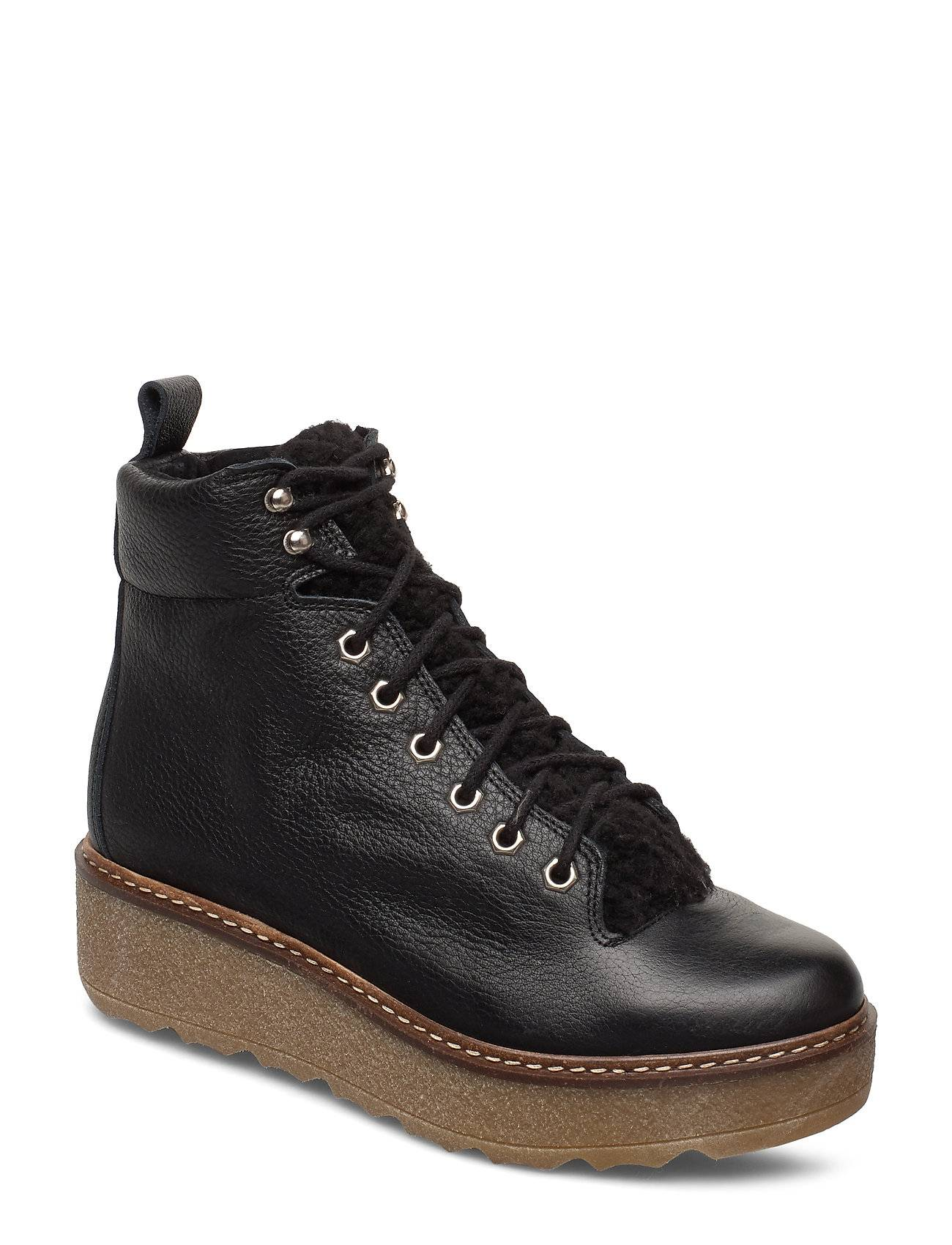 Shoe The Bear Bex L Shoes Boots Ankle Boots Ankle Boots Flat Heel Musta Shoe The Bear