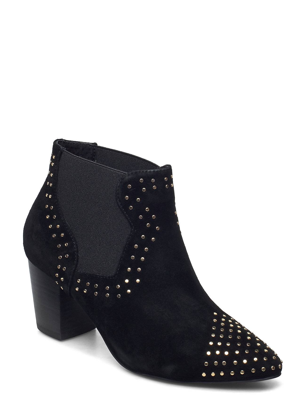 Shoe The Bear Stb-Toro Studs Shoes Boots Ankle Boots Ankle Boot - Heel Musta Shoe The Bear