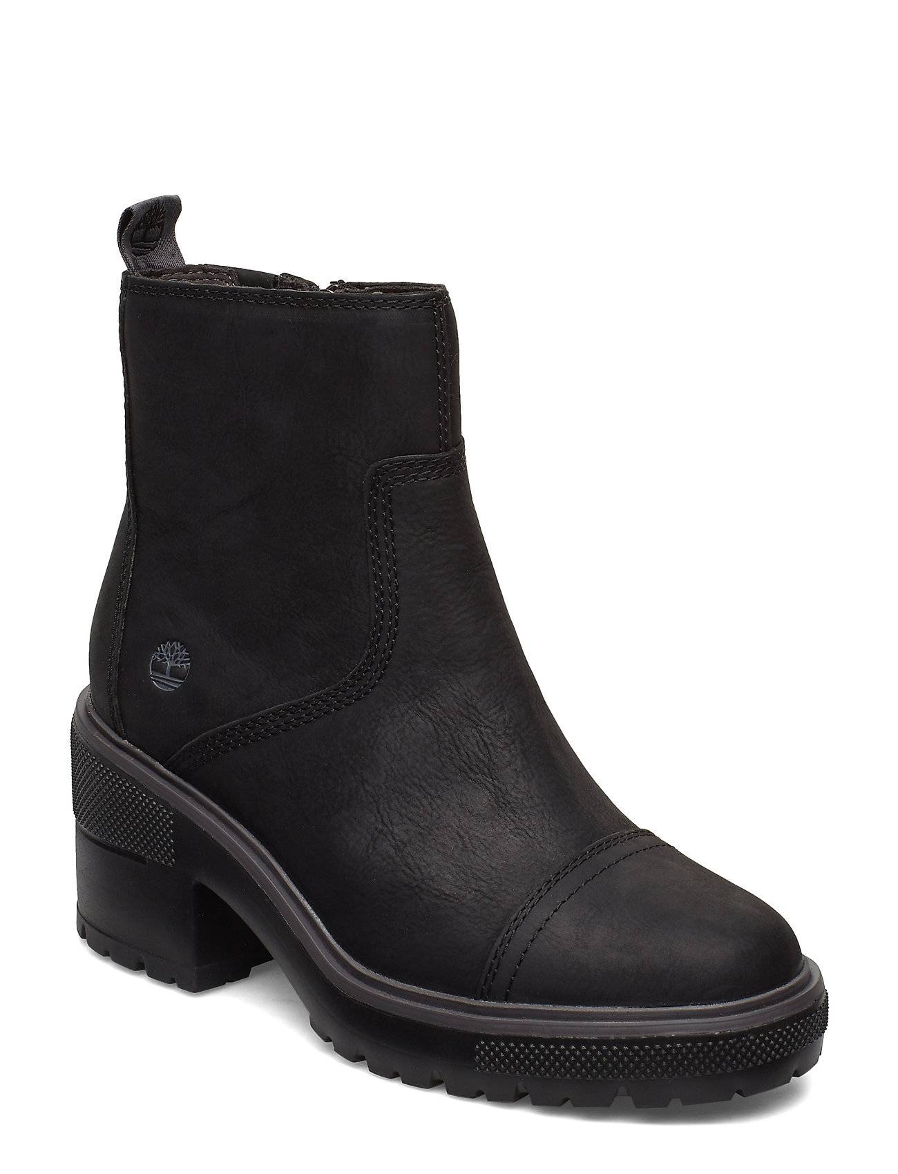 Timberland Silver Blossom Side Zip Shoes Boots Ankle Boots Ankle Boots With Heel Musta