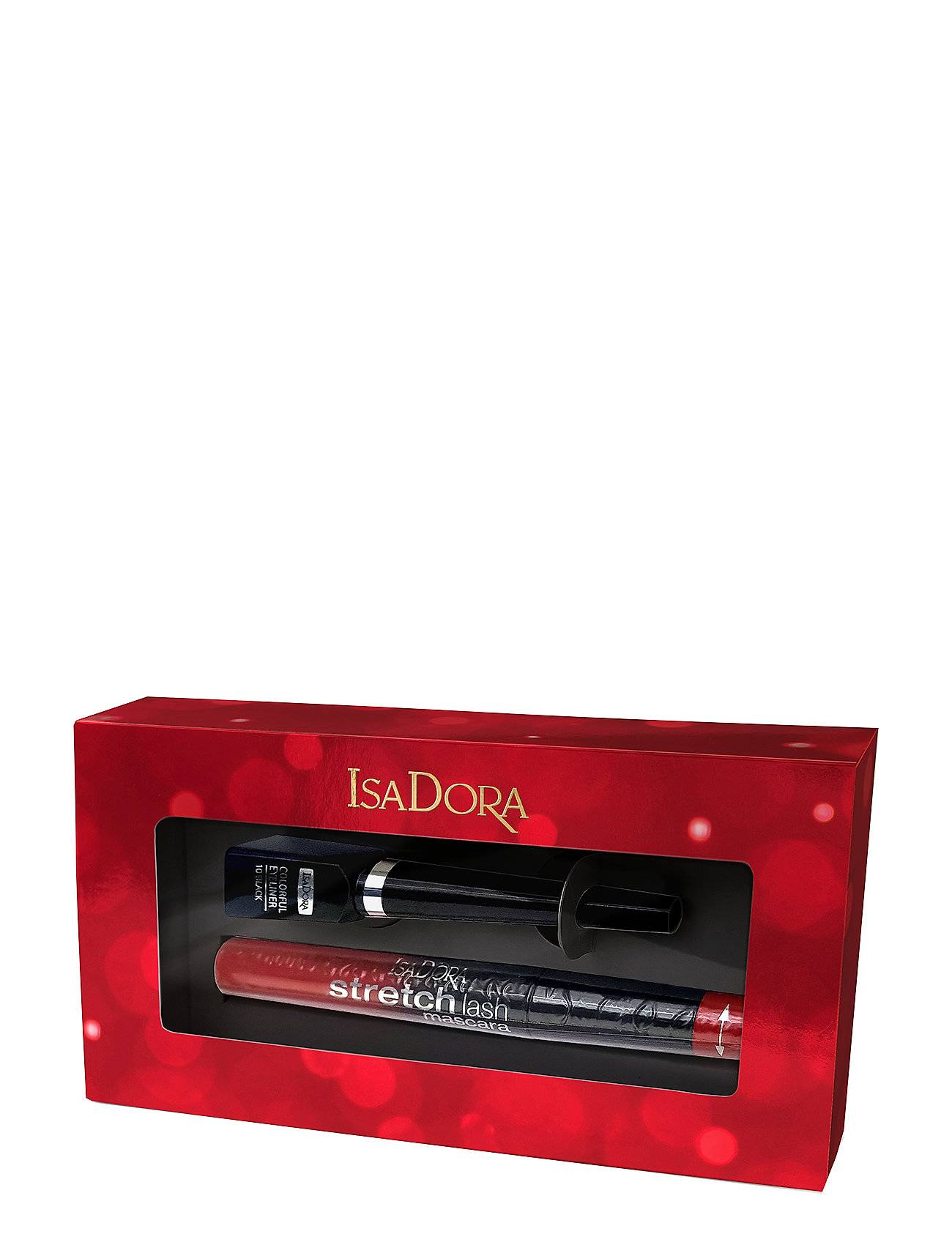 Isadora X-Mas Gift Set Gift Set Strlas Masca 10 Col/Eyeli Hiussarja Monivärinen/Kuvioitu Isadora