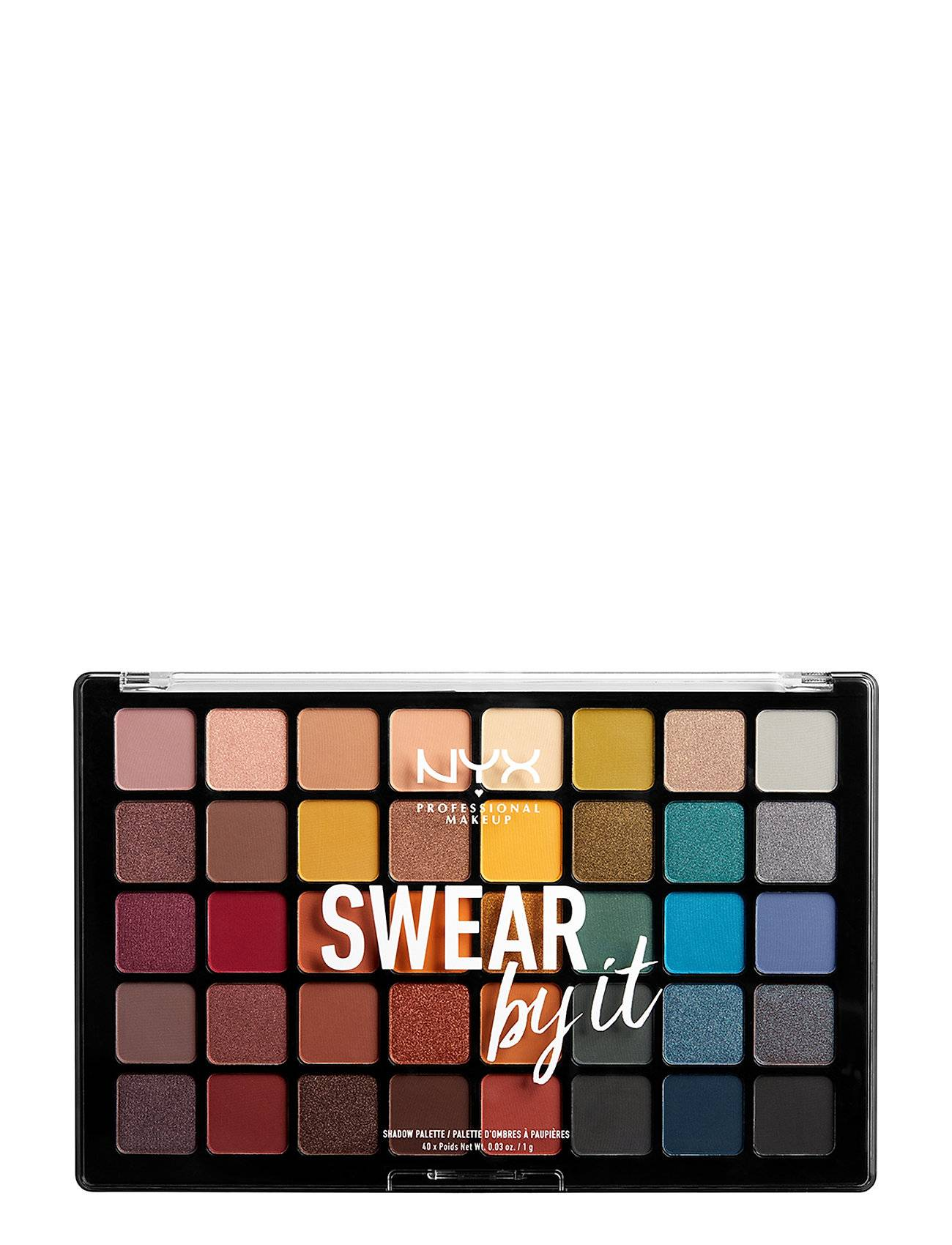 NYX PROFESSIONAL MAKEUP Swear By It Shadow Palette Beauty WOMEN Makeup Eyes Eyeshadow Palettes Monivärinen/Kuvioitu NYX PROFESSIONAL MAKEUP