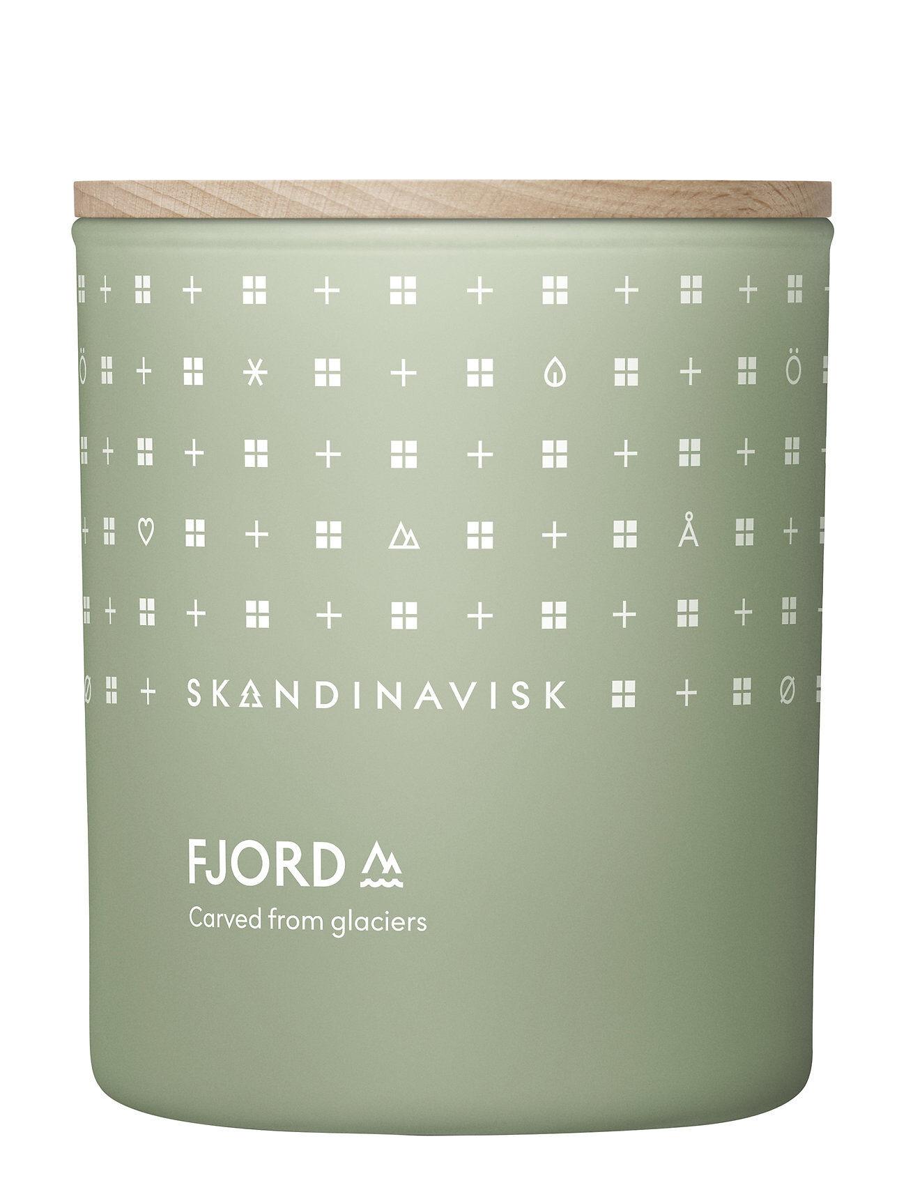 Skandinavisk Fjord Scented Candle With Lid 200g Tuoksukynttilä Nude Skandinavisk
