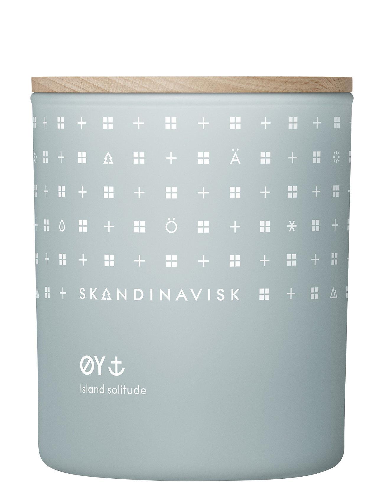 Skandinavisk ØY Scented Candle With Lid 200g Tuoksukynttilä Nude Skandinavisk