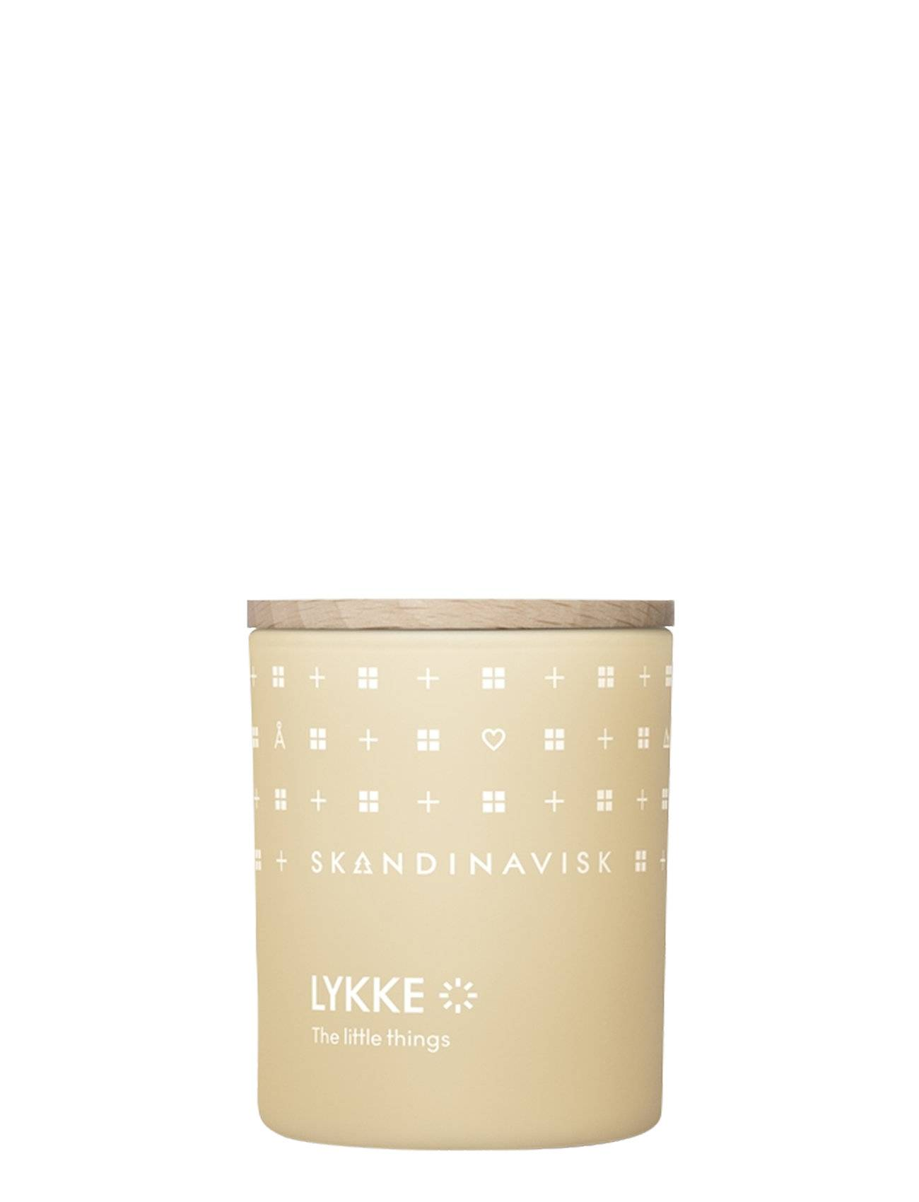 Skandinavisk Lykke Scented Candle With Lid 65g Tuoksukynttilä Nude Skandinavisk