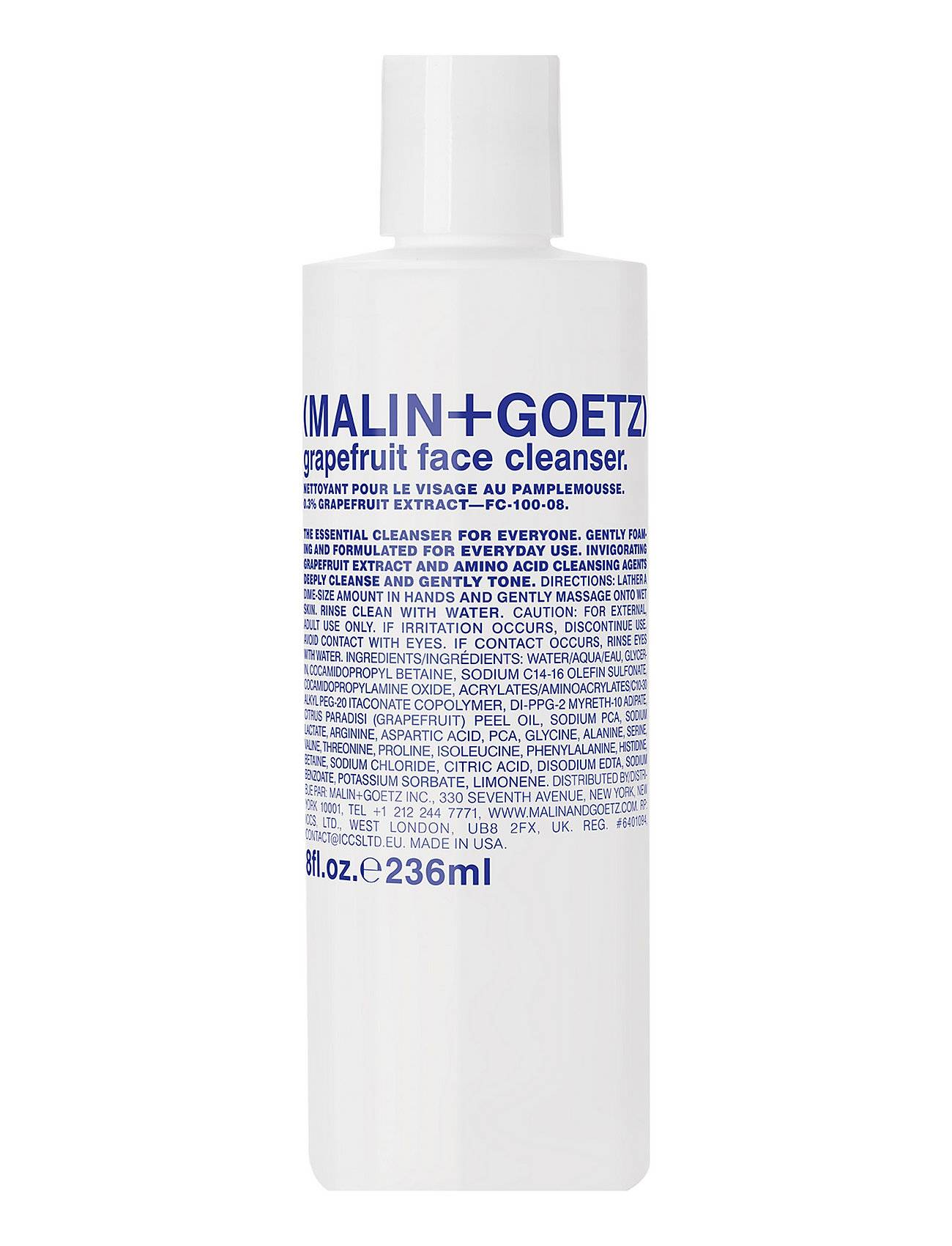 Malin+Goetz Grapefruit Face Cleanser Beauty WOMEN Skin Care Face Cleansers Cleansing Gel Nude Malin+Goetz