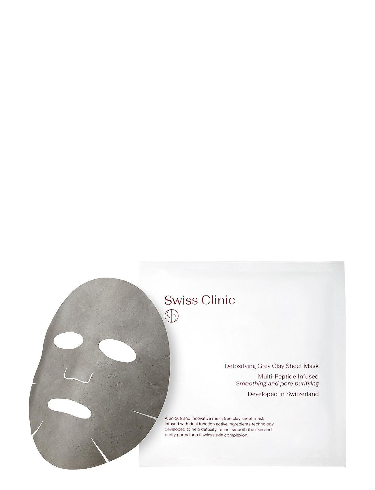Swiss Clinic Detoxifying Grey Clay Mask Beauty WOMEN Skin Care Face Sheet Mask Nude Swiss Clinic