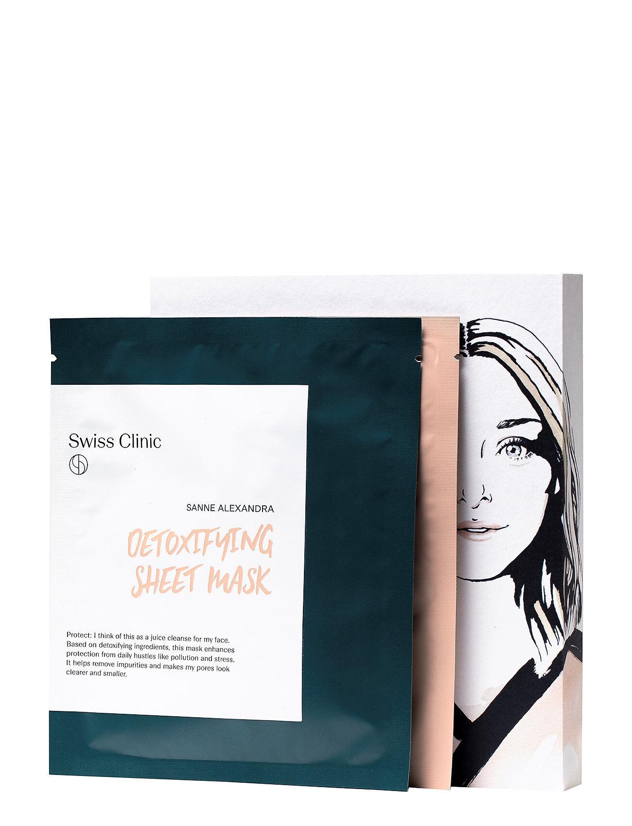 Swiss Clinic Detox & Glam Treatment Beauty WOMEN Skin Care Face Sheet Mask Nude Swiss Clinic