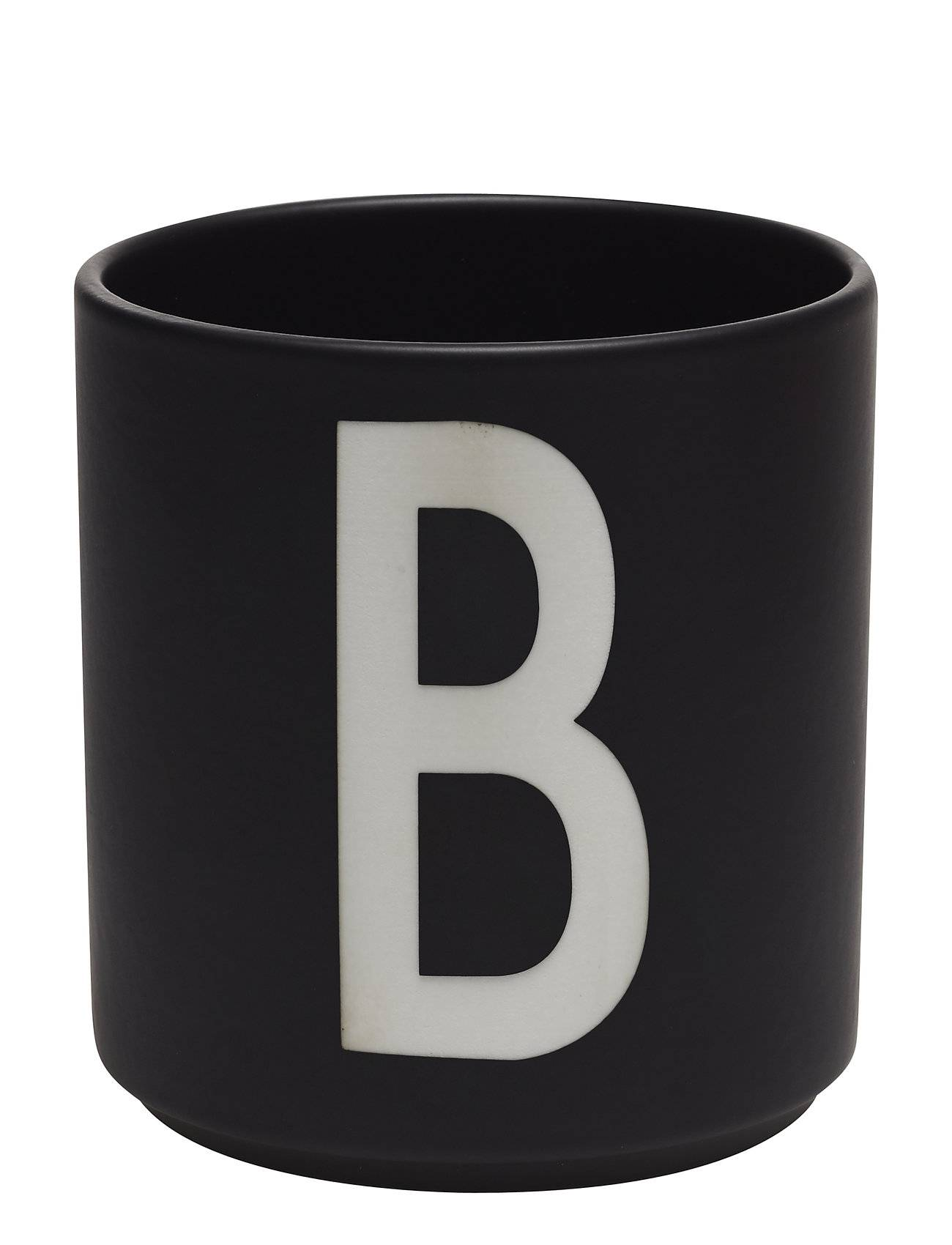 Design Letters Black Porcelain Cups A-Z Kodin Sisustus Musta Design Letters