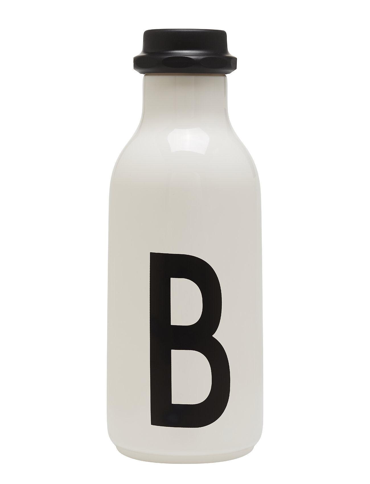 Design Letters Water Bottle A-Z Kodin Sisustus Valkoinen Design Letters