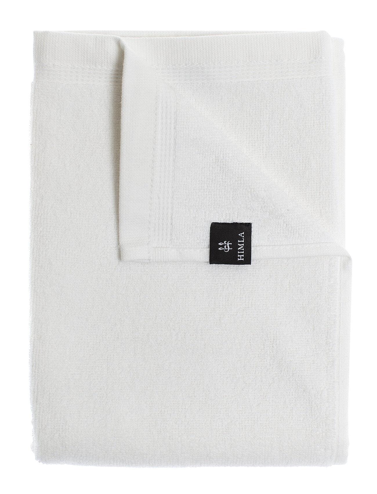 Himla Lina Towel Home Bathroom Towels Valkoinen Himla