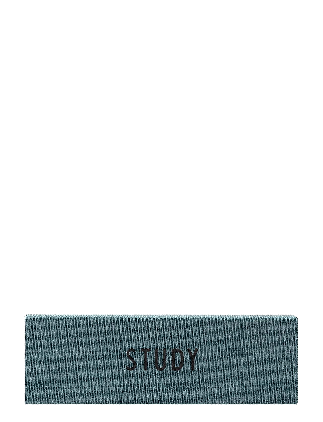 Design Letters Textile Pencil Case Kodin Sisustus Vihreä Design Letters