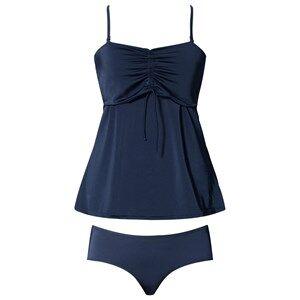 Girls Maternity Clothes Maternity swimwear Blue Fast Food Tankini Ink Blue