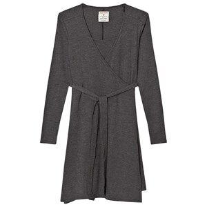 Mom2Mom o2o Wrap Dress Grey elange Nursing dresses