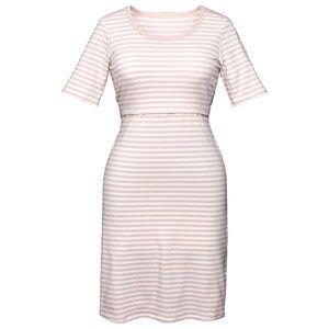 Image of Boob Night Dress White/Soft Pink Nursing dresses