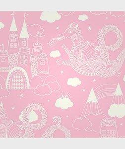 Majvillan Unisex Home accessories Pink Wallpaper Drakhimlen Pink