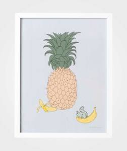 garbo&friends; Unisex Home accessories Multi Poster Pineapple