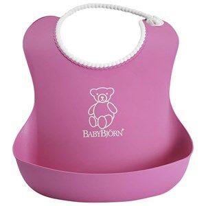 Babybjörn Unisex Baby Gear Baby feeding Pink Soft Bib Pink