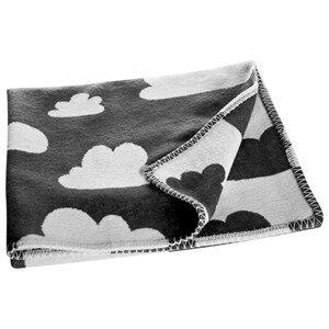 Image of Färg & Form Unisex Textile Black Clouds Blanket Black