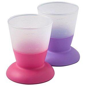 Babybjörn Unisex Baby Gear Baby feeding Multi Cup 2-Pack Pink/Purple