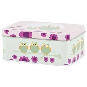 Blafre Unisex Baby Gear Lunch boxes and containers Pink Small Lunch Box Pink Owl