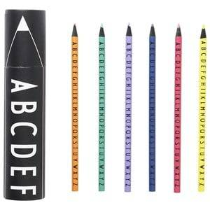 Design Letters Unisex Stationary Multi Crayons