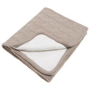 Vinter & Bloom Unisex Textile Beige Teddy Blanket Sand