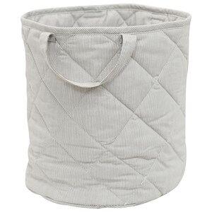 Vinter & Bloom Unisex Storage Grey Fine Embroidery Storage Basket