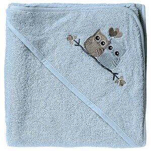 Baby Dan Boys Norway Assort Textile Blue Love Birds Hooded Bath Towel Blue