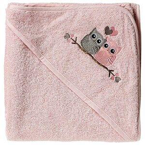 Baby Dan Girls Norway Assort Textile Pink Love Birds Hooded Bath Towel Pink