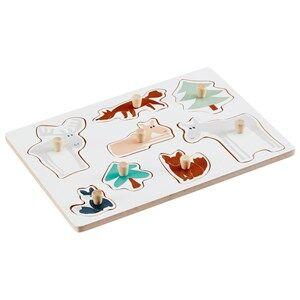 Kids Concept Unisex Puzzles and games Multi Edvin - Wooden Peg Puzzle