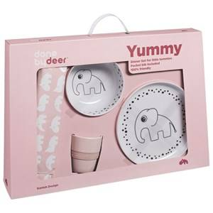 Done by Deer Unisex Norway Assort Tableware Pink Happy Dots Yummy Dinner Set Powder