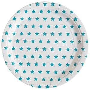 My Little Day Unisex Tableware Blue 8 Paper Plates - Blue Stars