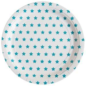 My Little Day Unisex Tableware Blue 8 Paper Plates - Blue Stars