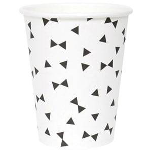My Little Day Unisex Tableware Black 8 Paper Cups - Black Tie
