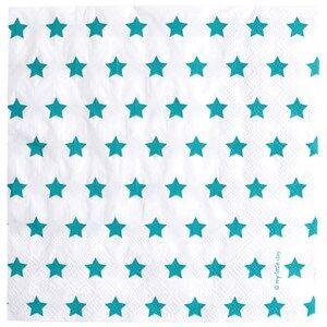 My Little Day Unisex Tableware Blue 20 Paper Napkins - Blue Stars
