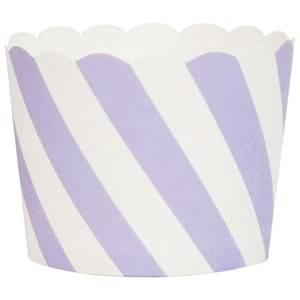 My Little Day Unisex Tableware Purple 25 Baking Cups - Lilac Diagonals