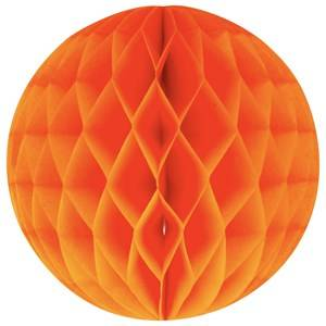 My Little Day Unisex Tableware Orange Honeycomb Paper Ball - Orange