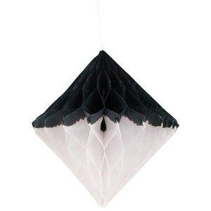 My Little Day Unisex Tableware Black Honeycomb Paper Diamond - Black & White