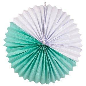 My Little Day Unisex Tableware Blue Paper Lantern - Aqua & White