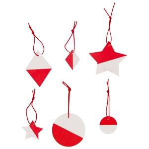 My Little Day Unisex Tableware Red Two-Colored Geometric Decorations - Red