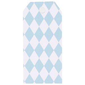 My Little Day Unisex Tableware Blue 12 Gift Tags - Light Blue Diamonds
