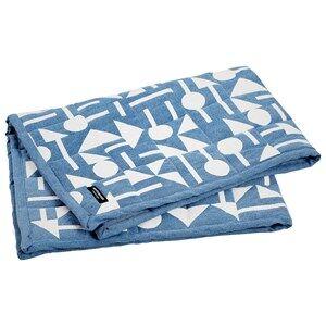Image of BudtzBendix Unisex Textile Blue Blanket Totem Denim